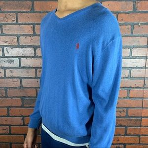 Polo by Ralph Lauren V-Neck Sweater Size Large